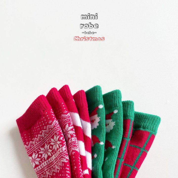 MINI ROBE - Korean Children Fashion - #Kfashion4kids - Santa Bebe Socks [set of 4] - 3