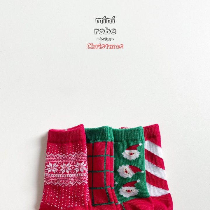 MINI ROBE - Korean Children Fashion - #Kfashion4kids - Santa Bebe Socks [set of 4] - 5