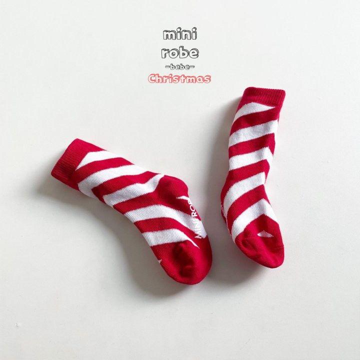 MINI ROBE - Korean Children Fashion - #Kfashion4kids - Santa Bebe Socks [set of 4] - 6