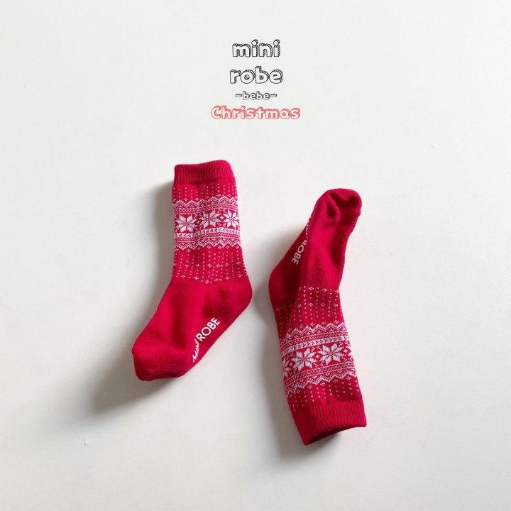 MINI ROBE - Korean Children Fashion - #Kfashion4kids - Santa Bebe Socks [set of 4] - 7