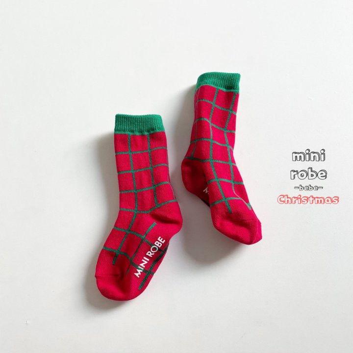 MINI ROBE - Korean Children Fashion - #Kfashion4kids - Santa Bebe Socks [set of 4] - 8