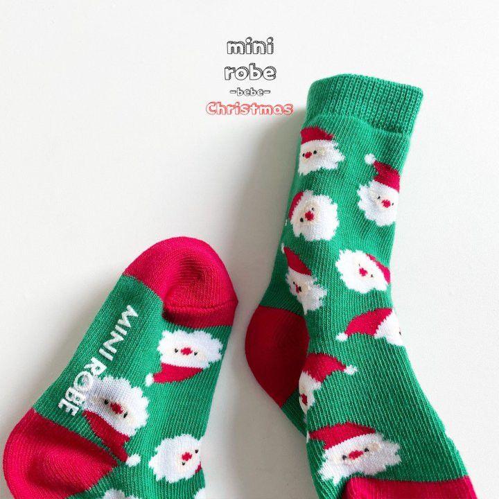 MINI ROBE - Korean Children Fashion - #Kfashion4kids - Santa Bebe Socks [set of 4] - 9