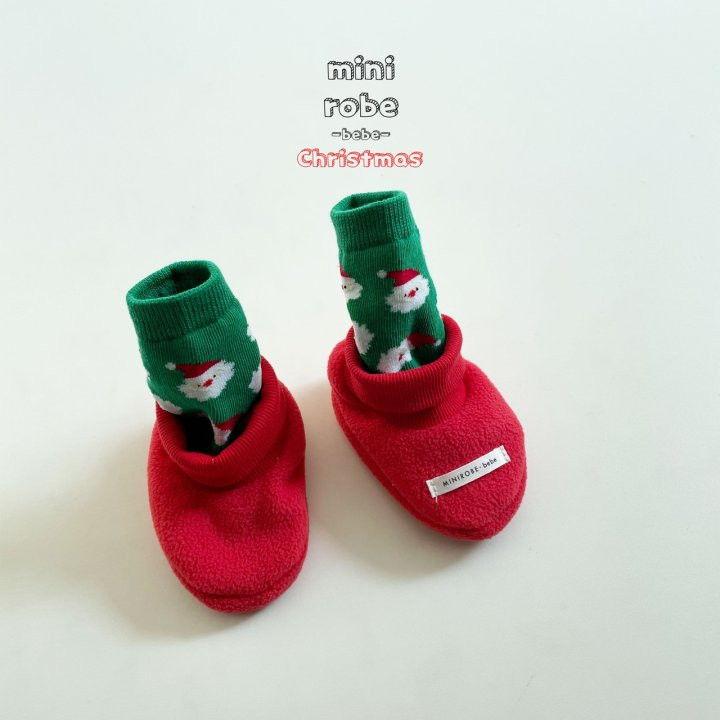 MINI ROBE - Korean Children Fashion - #Kfashion4kids - Santa Bebe Socks Shoes