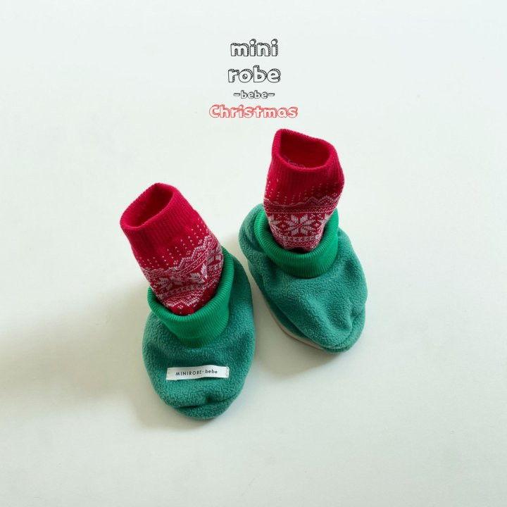 MINI ROBE - Korean Children Fashion - #Kfashion4kids - Santa Bebe Socks Shoes - 10