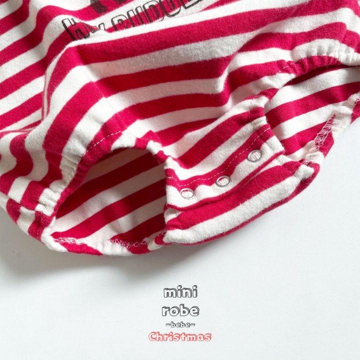 MINI ROBE - Korean Children Fashion - #Kfashion4kids - Santa Stripe Bodysuit - 12