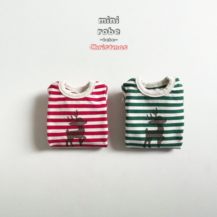 MINI ROBE - Korean Children Fashion - #Kfashion4kids - Santa Stripe Bodysuit - 2