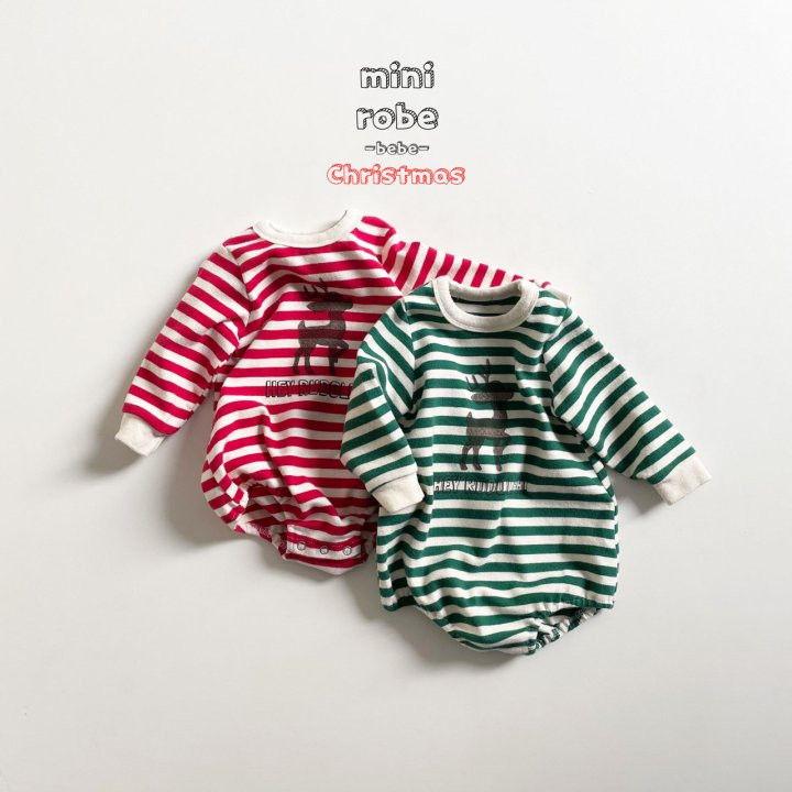 MINI ROBE - Korean Children Fashion - #Kfashion4kids - Santa Stripe Bodysuit - 4