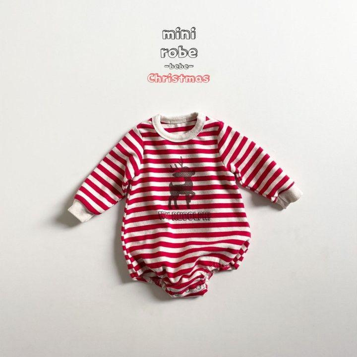 MINI ROBE - Korean Children Fashion - #Kfashion4kids - Santa Stripe Bodysuit - 5