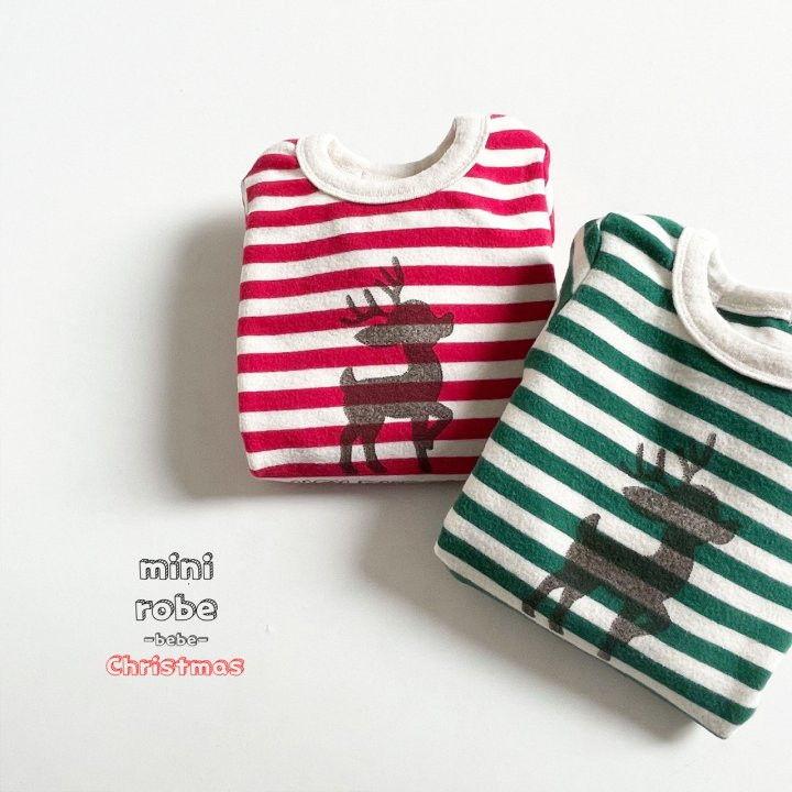 MINI ROBE - Korean Children Fashion - #Kfashion4kids - Santa Stripe Bodysuit - 7