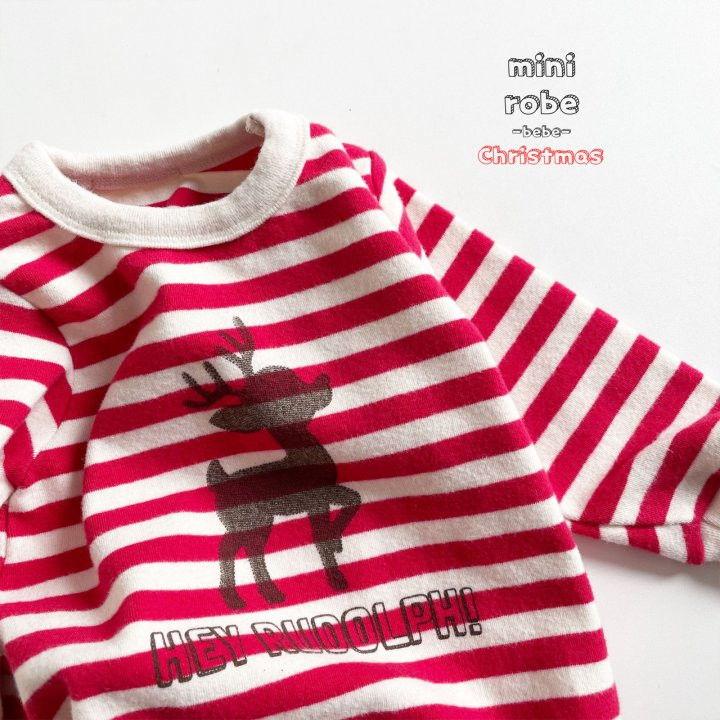 MINI ROBE - Korean Children Fashion - #Kfashion4kids - Santa Stripe Bodysuit - 8