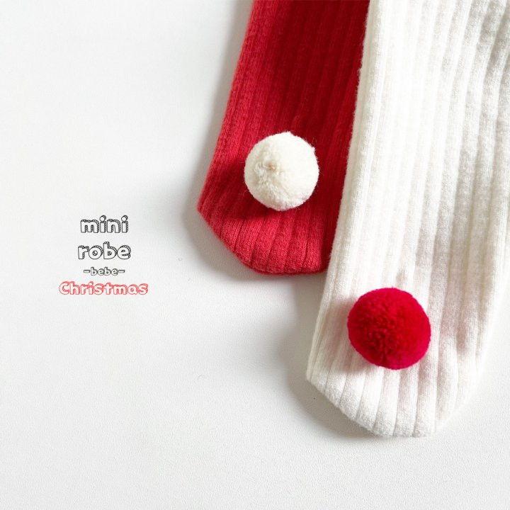 MINI ROBE - Korean Children Fashion - #Kfashion4kids - Pompom Bebe Foot Leggings - 10