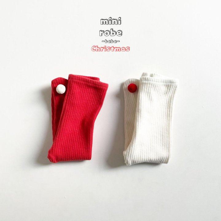 MINI ROBE - Korean Children Fashion - #Kfashion4kids - Pompom Bebe Foot Leggings - 2