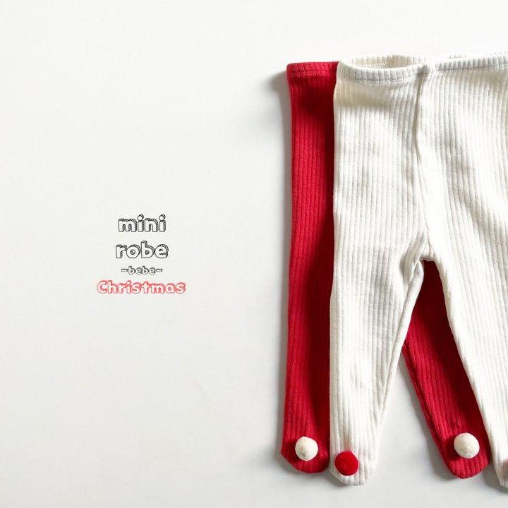 MINI ROBE - Korean Children Fashion - #Kfashion4kids - Pompom Bebe Foot Leggings - 3