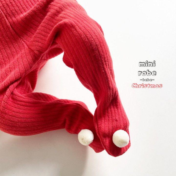 MINI ROBE - Korean Children Fashion - #Kfashion4kids - Pompom Bebe Foot Leggings - 6