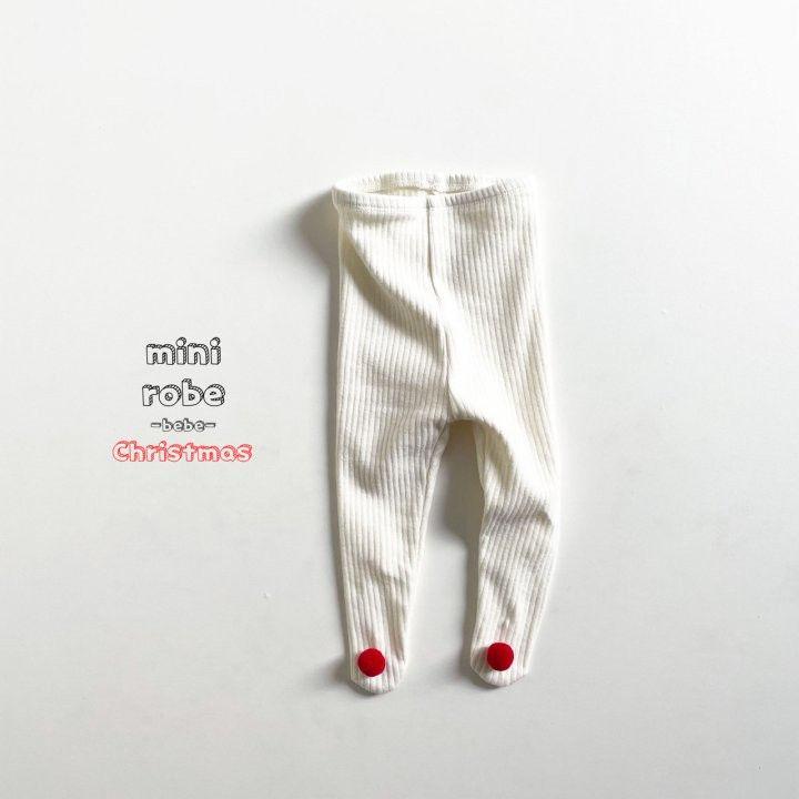 MINI ROBE - Korean Children Fashion - #Kfashion4kids - Pompom Bebe Foot Leggings - 7