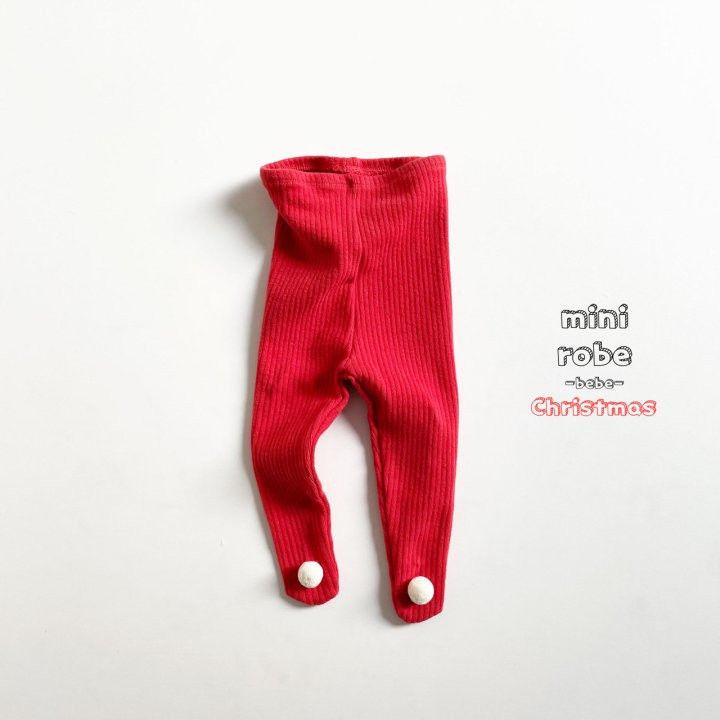 MINI ROBE - Korean Children Fashion - #Kfashion4kids - Pompom Bebe Foot Leggings - 8