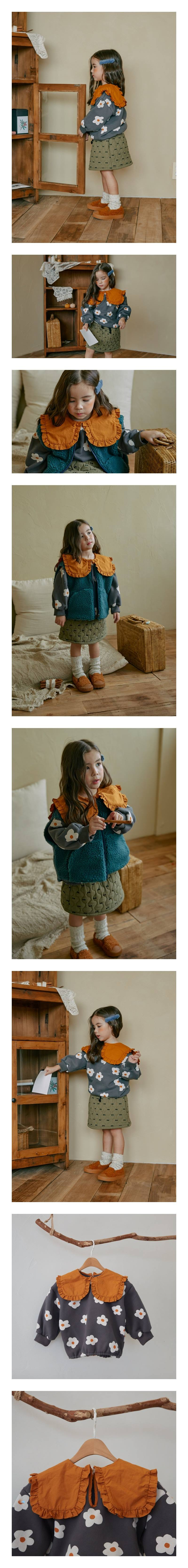 MINIATURE - Korean Children Fashion - #Kfashion4kids - Flower Collar Pullover