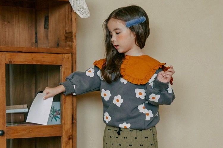 MINIATURE - BRAND - Korean Children Fashion - #Kfashion4kids - Flower Collar Pullover