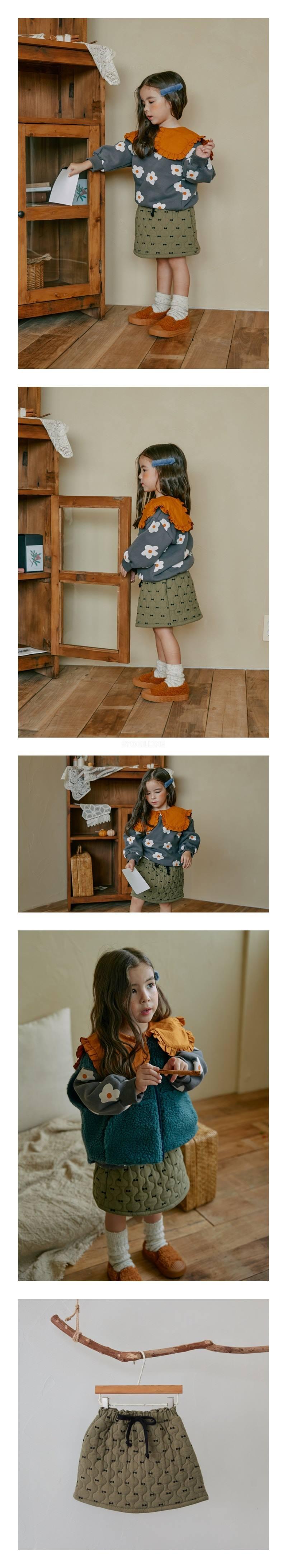 MINIATURE - Korean Children Fashion - #Kfashion4kids - Ribbon Quilting Skirt