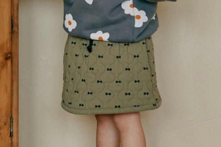 MINIATURE - BRAND - Korean Children Fashion - #Kfashion4kids - Ribbon Quilting Skirt