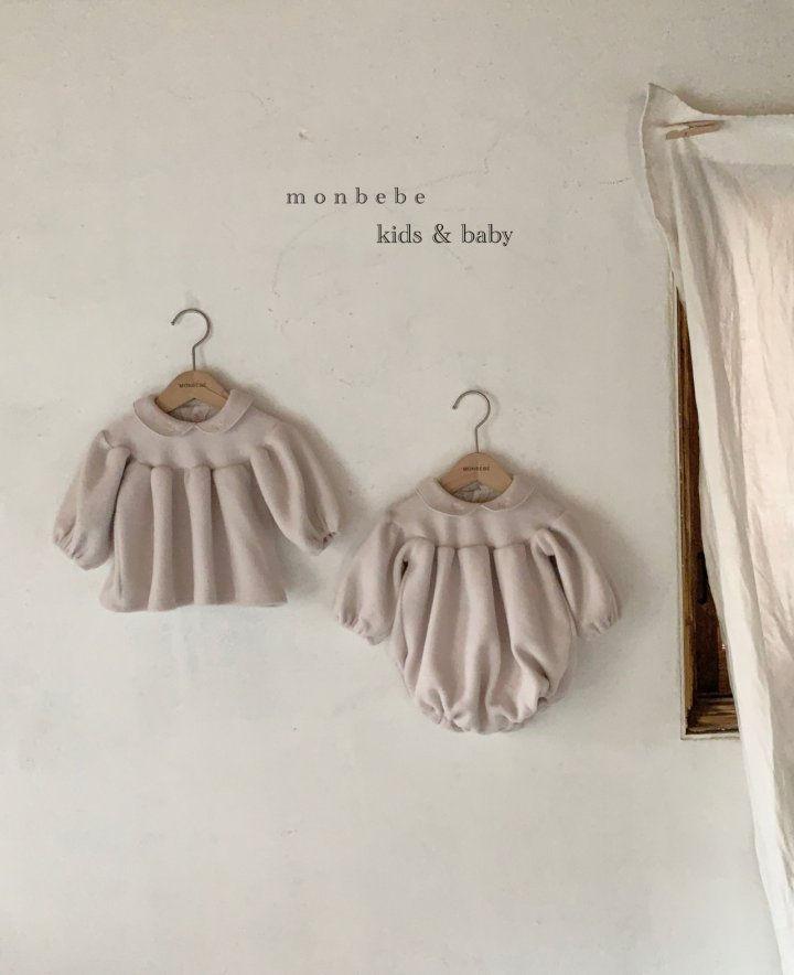 MONBEBE - Korean Children Fashion - #Kfashion4kids - Beans Embroidery Bodysuit - 4