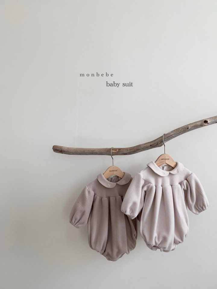 MONBEBE - BRAND - Korean Children Fashion - #Kfashion4kids - Beans Embroidery Bodysuit