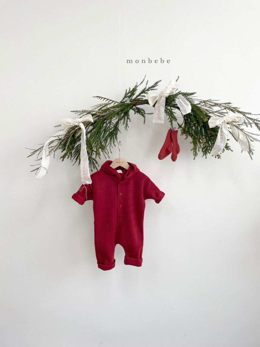 MONBEBE - Korean Children Fashion - #Kfashion4kids - Fox Hood Bodysuit - 4