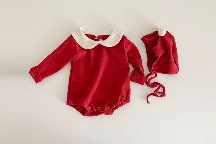 MY BEBE - BRAND - Korean Children Fashion - #Kfashion4kids - Santa Bodysuit with Hat