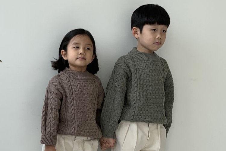 NRK - BRAND - Korean Children Fashion - #Kfashion4kids - Dear Half Turtleneck Knit Pullover