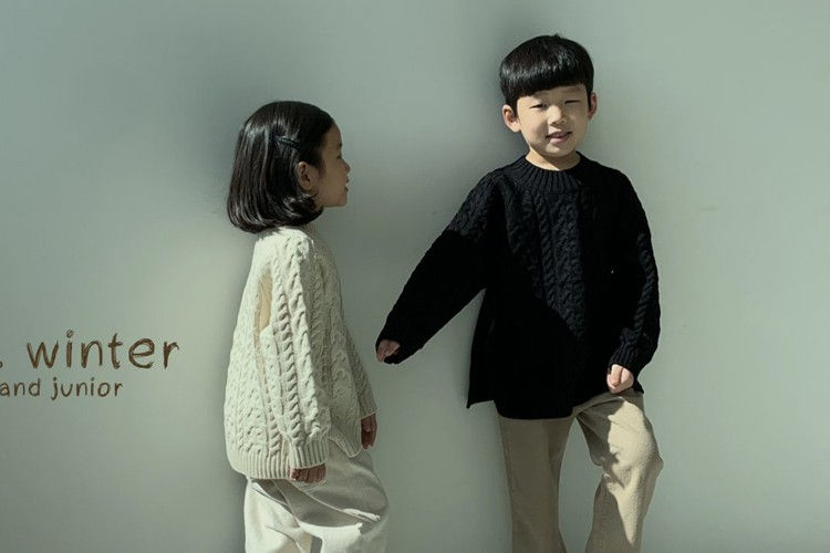 NRK - BRAND - Korean Children Fashion - #Kfashion4kids - Cable Knit Pullover