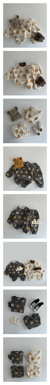 OOTT BEBE - Korean Children Fashion - #Kfashion4kids - Smile Fleece Top Bottom Set