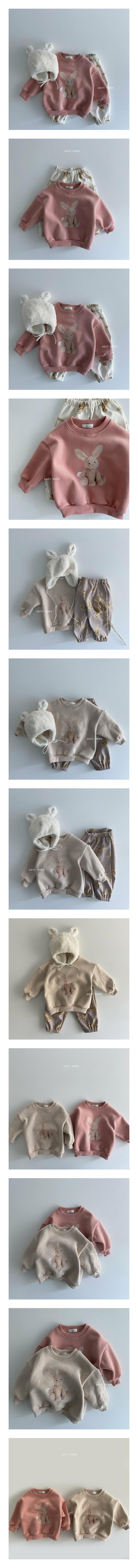 OOTT BEBE - Korean Children Fashion - #Kfashion4kids - Rabbit Fleece Sweatshirt