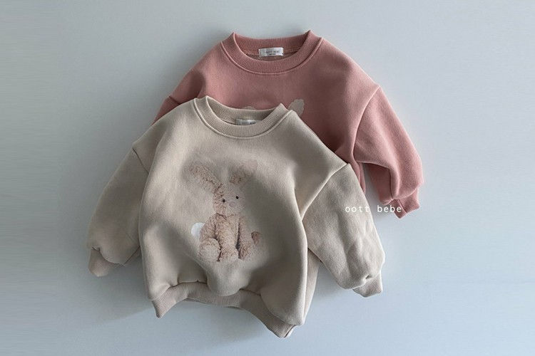 OOTT BEBE - BRAND - Korean Children Fashion - #Kfashion4kids - Rabbit Fleece Sweatshirt
