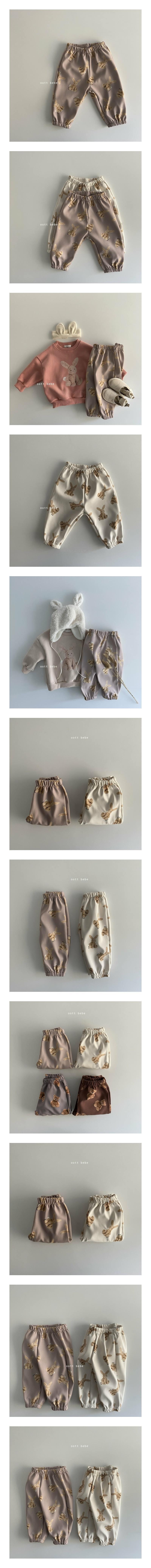 OOTT BEBE - Korean Children Fashion - #Kfashion4kids - Rabbit Fleece Pants