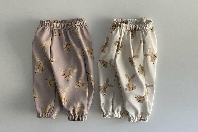 OOTT BEBE - BRAND - Korean Children Fashion - #Kfashion4kids - Rabbit Fleece Pants