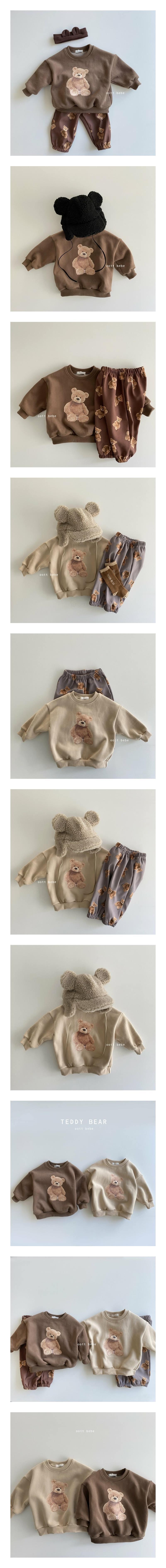 OOTT BEBE - Korean Children Fashion - #Kfashion4kids - Teddy Fleece Sweatshirt