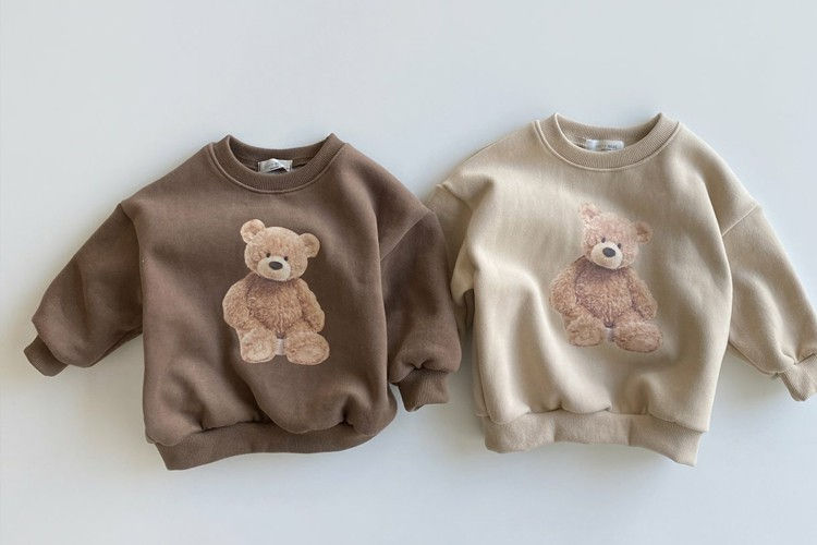 OOTT BEBE - BRAND - Korean Children Fashion - #Kfashion4kids - Teddy Fleece Sweatshirt