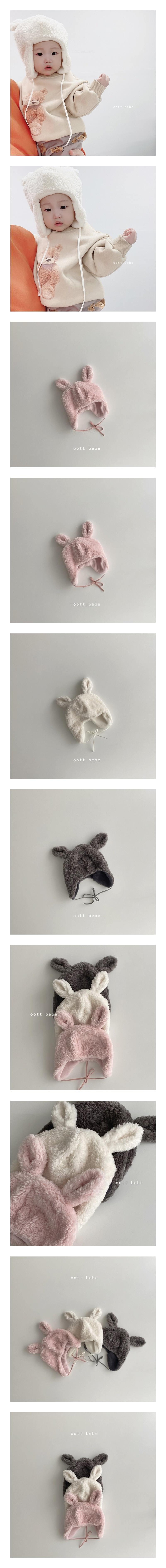 OOTT BEBE - Korean Children Fashion - #Kfashion4kids - Rabbit Soft Hat