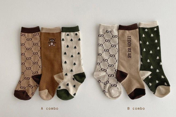 OOTT BEBE - BRAND - Korean Children Fashion - #Kfashion4kids - Teddy Knee Socks [set of 3]