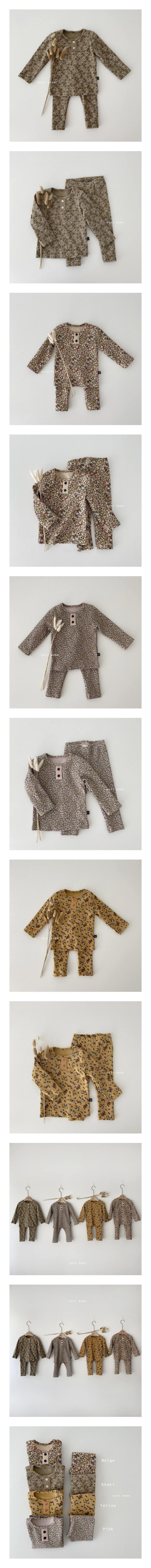 OOTT BEBE - Korean Children Fashion - #Kfashion4kids - Flower Easywear