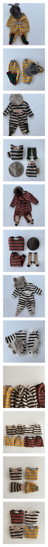 OOTT BEBE - Korean Children Fashion - #Kfashion4kids - Soft Stripe Top Bottom Set