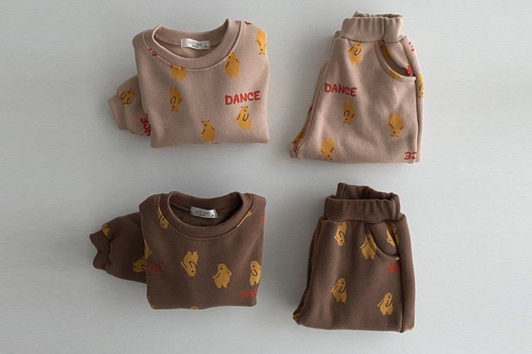 OOTT BEBE - BRAND - Korean Children Fashion - #Kfashion4kids - Bear Top Bottom Set