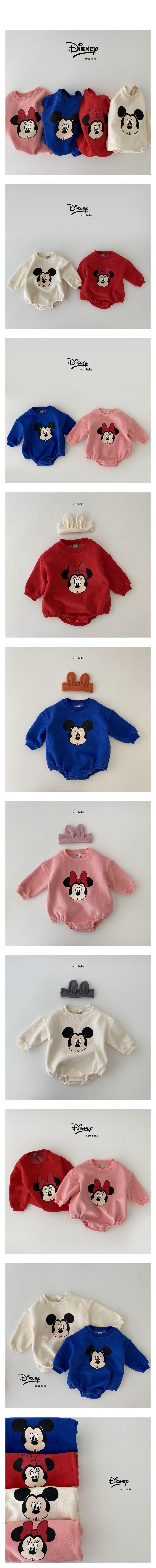 OOTT BEBE - Korean Children Fashion - #Kfashion4kids - Mickey Minnie Bodysuit
