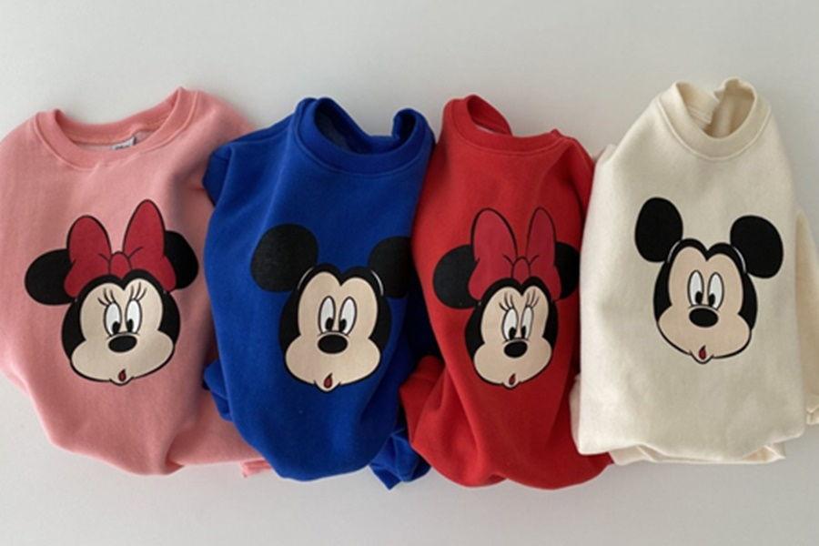 OOTT BEBE - BRAND - Korean Children Fashion - #Kfashion4kids - Mickey Minnie Bodysuit