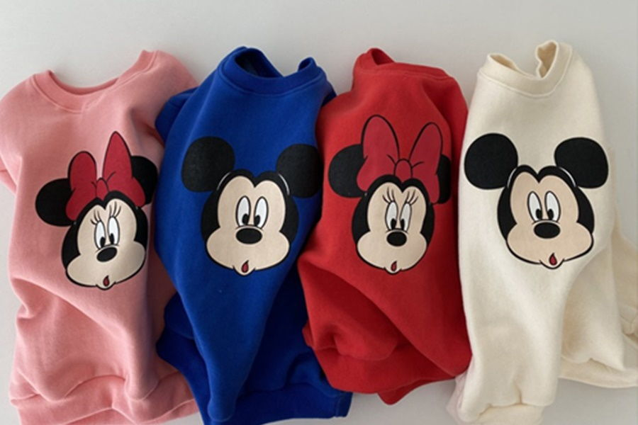 OOTT BEBE - BRAND - Korean Children Fashion - #Kfashion4kids - Mickey Minnie Sweatshirt