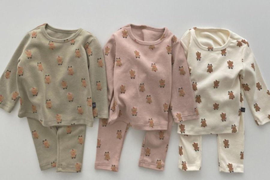 OOTT BEBE - BRAND - Korean Children Fashion - #Kfashion4kids - Santa Bear Easywear