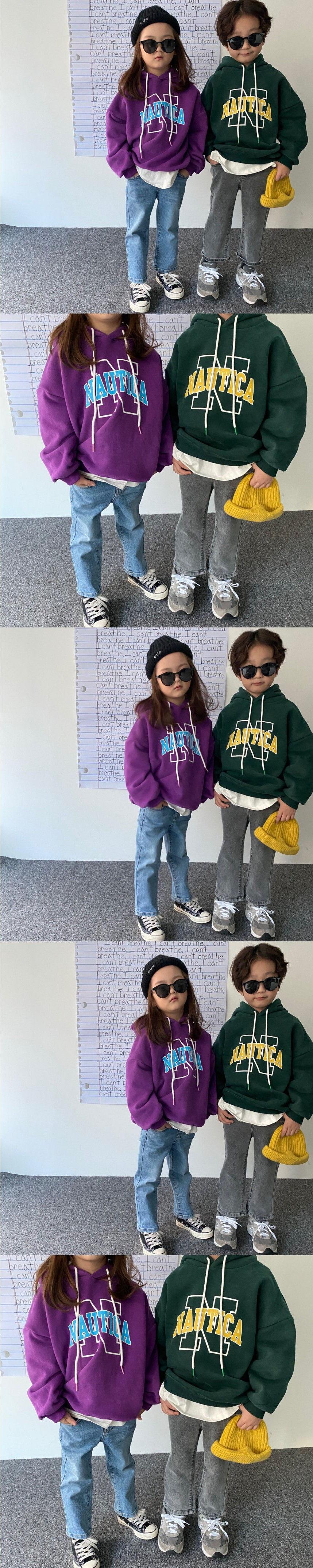 OUR - Korean Children Fashion - #Kfashion4kids - Nautica Fleece Hoody