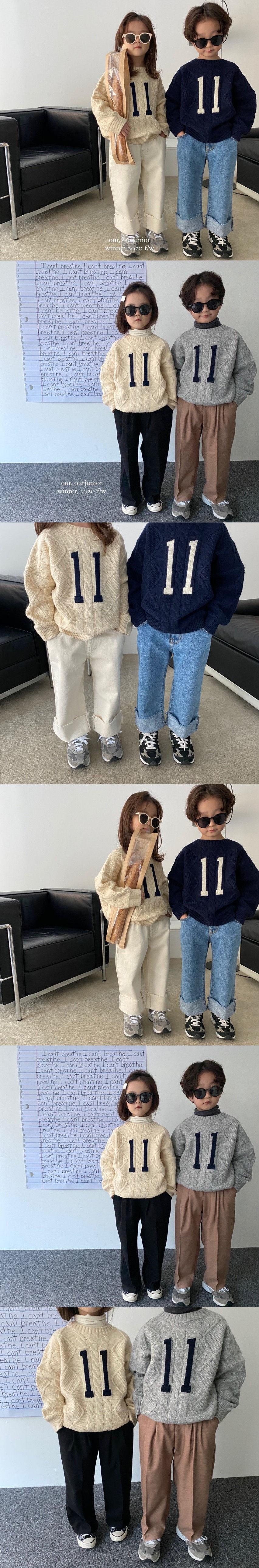 OUR - Korean Children Fashion - #Kfashion4kids - Eleven Knit Pullover