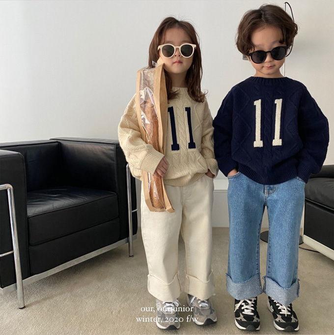 OUR - BRAND - Korean Children Fashion - #Kfashion4kids - Eleven Knit Pullover