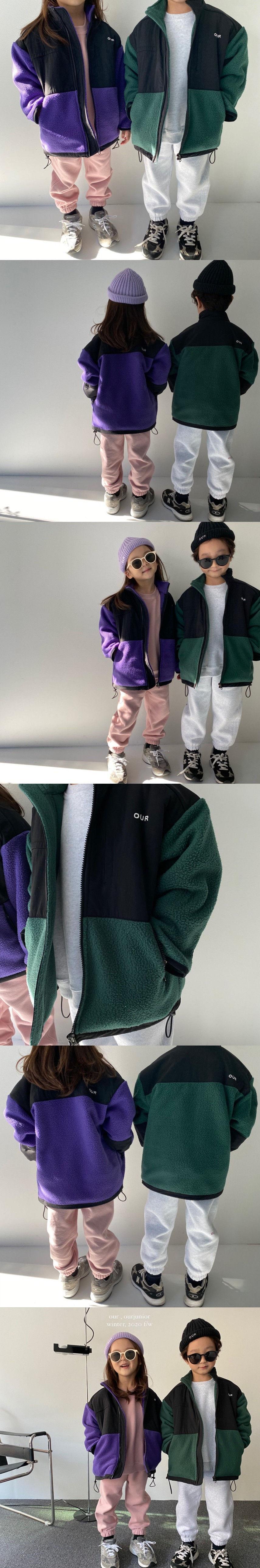 OUR - Korean Children Fashion - #Kfashion4kids - Retro Fleece Jacket